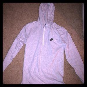 Nike gray long sleeve shirt hoodie.